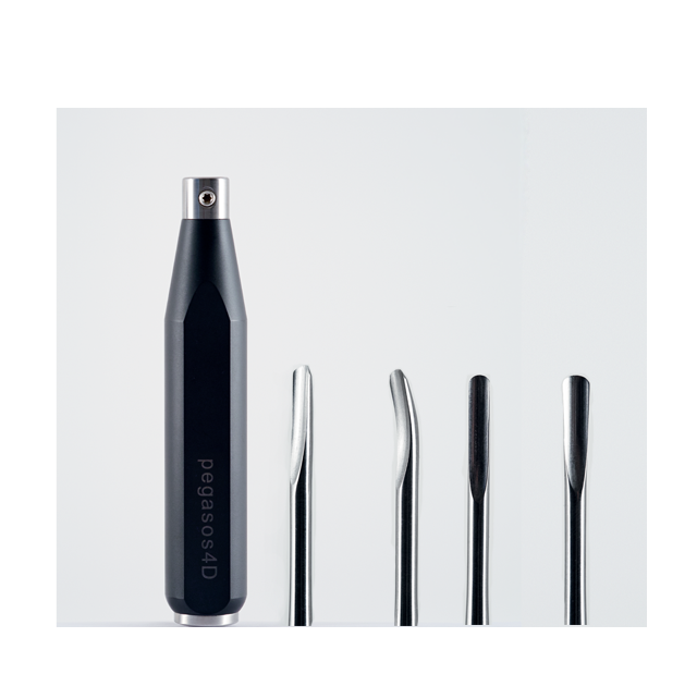 Complete Extraction System Handle, straight, concave and convex curved inserts 4 and 5 mm